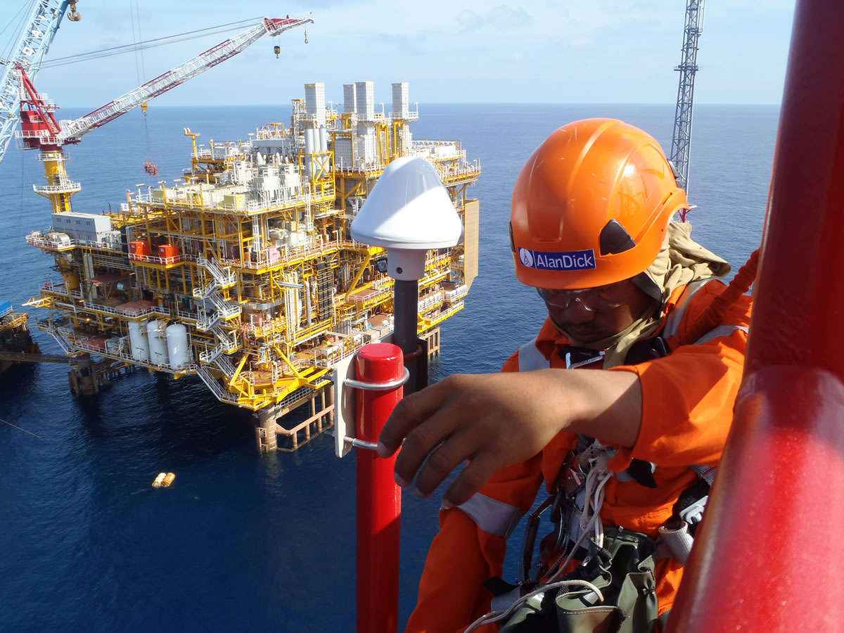 Offshore Turnkey Telecommunications installation and testing services (Bongkot, Gulf of Thailand)
